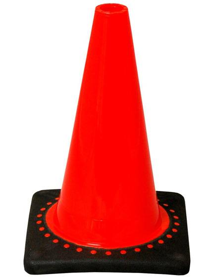 "Orange 12"" Traffic Cone with Black Base image"