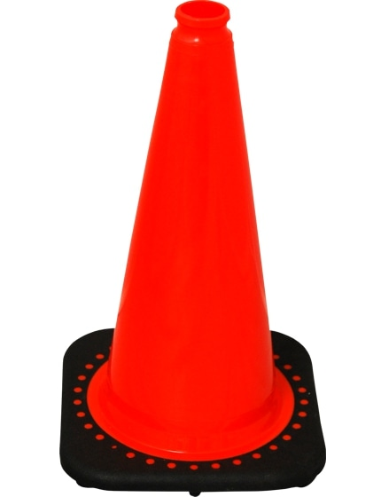 "Orange 18"" Traffic Cone with Black Base image"