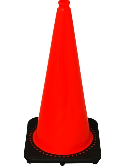 "Orange 28"" 10.0 Lb. Traffic Cone with Black Base image"