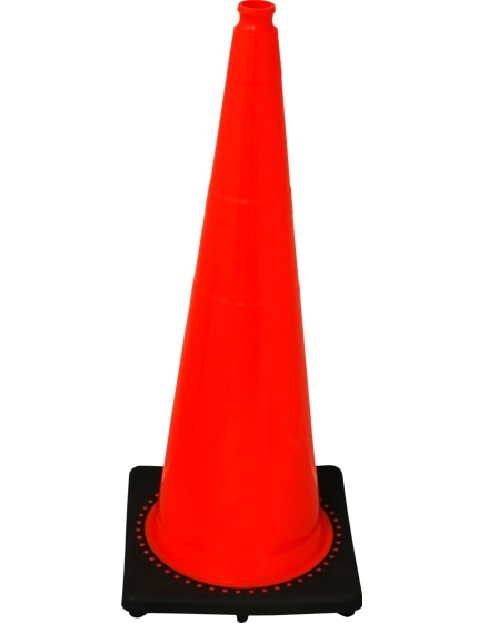 "Orange 36"" 12.0 Lb. Traffic Cone with Black Base image"