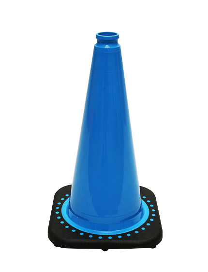 "Light Blue 18"" Traffic Cone with Black Base image"