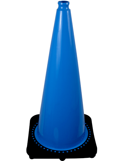 "28"" Light Blue Traffic Cone image"