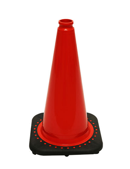 "Red 18"" Traffic Cone with Black Base image"
