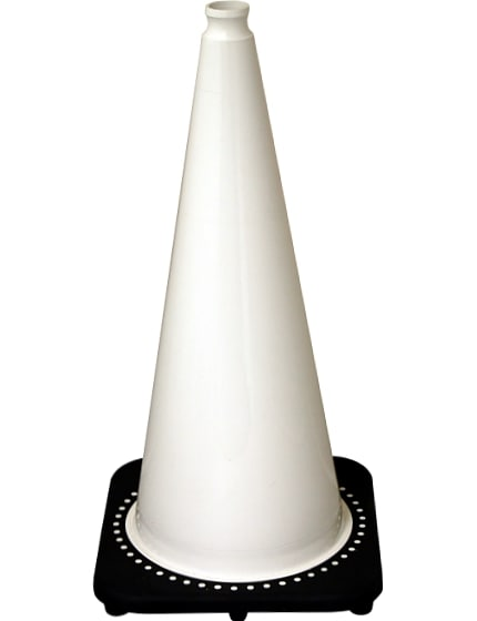 "28"" White Traffic Cones image"