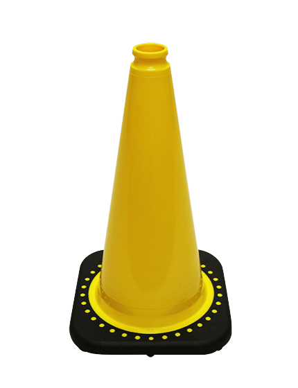 "Yellow 18"" Traffic Cone with Black Base image"