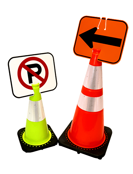 Clip-On Signs for Traffic Cones