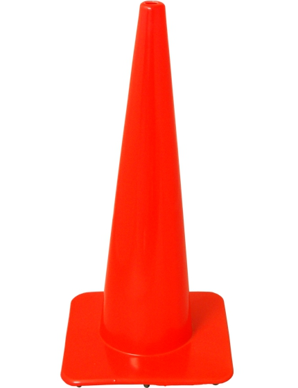 "28"" SlimLine Traffic Cones - Solid Orange"