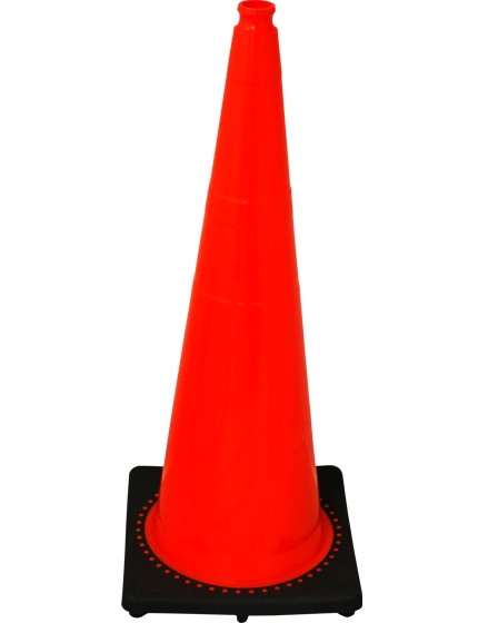 "36"" Black base Orange Cone"